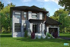 Maisons de prestige - Contemporaines à vendre   Construction Louis-Seize Model House Plan, Dream House Plans, House Floor Plans, Style At Home, Louis Seize, African House, House Paint Exterior, Affordable Housing, Home Design Plans