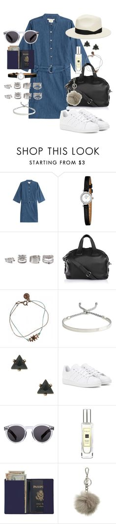 """""""It's a hell of a town"""" by marissa-91 ❤ liked on Polyvore featuring Marc by Marc Jacobs, Forever 21, Givenchy, Monica Vinader, adidas, Illesteva, Jo Malone, Royce Leather, MICHAEL Michael Kors and rag & bone"""