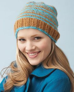 Try out fair isle with this fun hat with just a few fair isle rounds! Shown in Bernat Sheep(ish) by Vickie Howell.