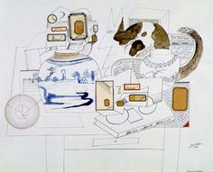 Still Life with Cat    1966 Saul Steinberg