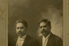 Prince David La'amea Kahalepouli Kinoiki Kawānanakoa Pi'ikoi (1868-1908) and Prince Jonah Kūhiō Kalaniana'ole Pi'ikoi(1871–1922).