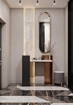 Rooms Decoration, Decoration Design, Hallway Designs, Foyer Design, Lobby Interior, Interior Walls, Modern Bathroom Decor, Bathroom Interior Design, High Ceiling Living Room