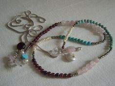 Extra Long / Multi Gem/Semi Precious  & by StellaMargaritis, $70.00 Hipster Jewelry, On Set, My Etsy Shop, Jewelry Making, Bohemian, Gems, Canada, Craft Ideas, Sterling Silver