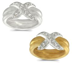 One-Row Pave-Set Diamond Double Band - 0.45 ctw.
