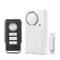 Home Security Door Window Siren Cảm Biến Từ Tính Cảnh Báo Báo Động Hệ Thống Không Dây Điều Khiển Từ Xa Cửa Dò Báo Trộm