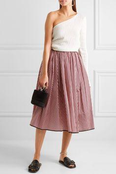 TOME | Striped taffeta midi skirt | NET-A-PORTER.COM