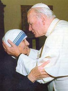 Pope John Paul II and Mother Teresa