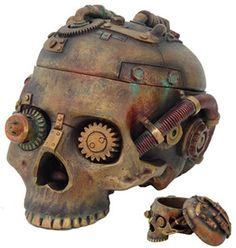 Steampunk Skull Treasure Box - Steampunk www.mamaemsworld.com