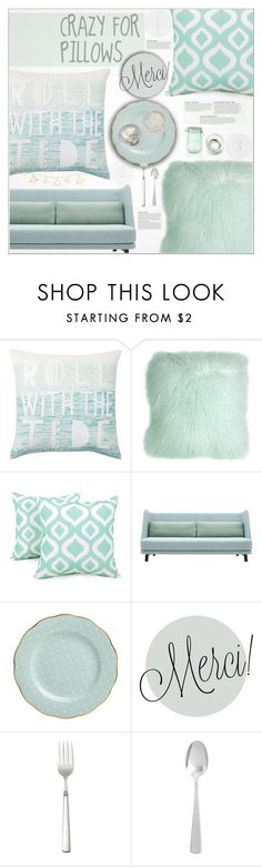 """""""◊ Turquoise Pillows (3/9)"""" by paty ❤ liked on Polyvore featuring interior, interiors, interior design, home, home decor, interior decorating, PBteen, Pillow Decor, Arlee Home Fashions and Royal Albert"""