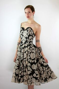 Vtg 50s Black & Bone Swing Tulle LACE by awesometownvintage, $375.00, i think this is a great choice