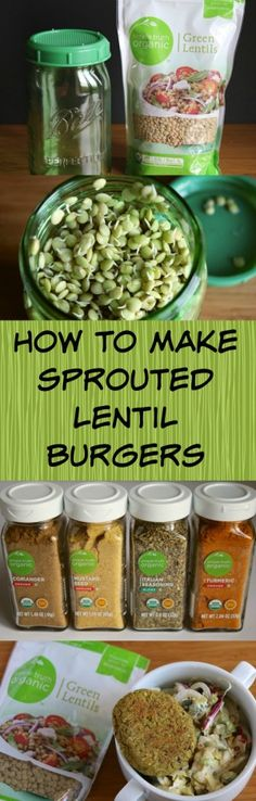 How to Make Sprouted Lentil Burgers that are vegan and gluten-free. If you sprout them at home, it is really budget-friendly too!