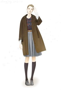 54 Fashion Illustration by adobe illustrator——The Autumn