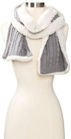 Amazon.com: Dearfoams Women's Mini Cable Scarf, Heather Grey, One Size: Clothing