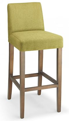 Faroni green fabric seat kitchen breakfast bar stool wooden frame fully assembled