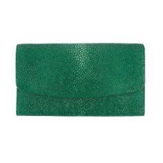 Green by Grunenberger 1854 - stingray - KANDY clutch bag