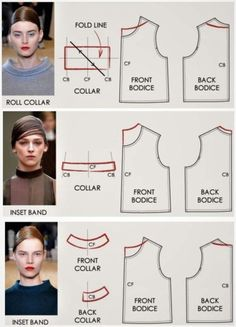 I like this top collar not sure what to call it looking forward to learning more about these necklines collars modelagen All Things Sewing and Pattern Making Fashion model illustration moda Ideas for 2019 Image gallery – Page 585186545310949913 – Arto Pattern Cutting, Pattern Making, Dress Sewing Patterns, Clothing Patterns, Coat Pattern Sewing, Pants Pattern, Sewing Clothes, Diy Clothes, Sewing Tutorials