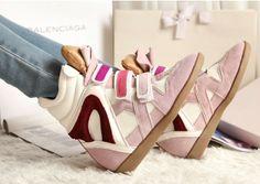 Isabel marant Suede Wedge sneakers #sneakers #isabelmarant #shoes