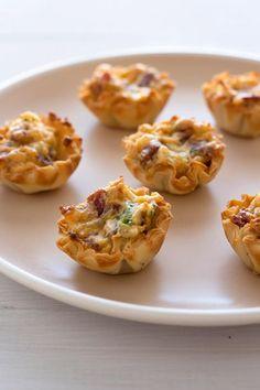 Bacon Cheddar Bites - super simple appetizer!
