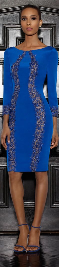 Lorena Sarbu 2015 Resort Collection - royal blue lace embellished dress