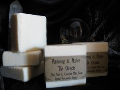 THE ORACLE Sea Salt & Coconut Milk Soap - Scented with Essential Oils of Lemon, Geranium, and Ginger.