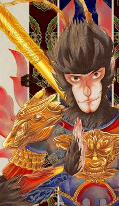 W u X i a — CUG: King of Heroes : Hero is Back (2015) 西游记之大圣归来... Rey Mono, Chinese Culture, Chinese Art, Monkey King, Chinese Zodiac, Korn, Watercolor Paintings, Tattoo, Watercolour Paintings