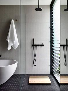 & Interior Design Inspiration& is a weekly showcase of some of the most perfectly minimal interior design examples that we& found around the web - all for you to use as inspiration.Previous post in the series: Minimal Interior Design Inspiration Minimalist Bathroom Design, Minimal Bathroom, Modern Bathroom Design, Minimalist Interior, Bathroom Interior Design, Minimalist Decor, Modern Bathrooms, Bathroom Designs, White Bathroom