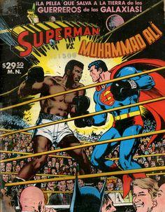 Superman vs Muhammad Ali. Tapa por Neal Adams Editorial Novaro, Mexico 1978