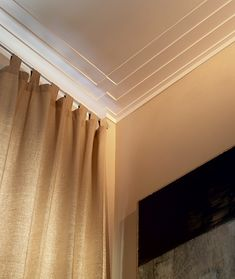 Art deco style New York crown molding. Visually striking stepped design of the crown molding is true to Art deco style. Moldings And Trim, Crown Molding, Molding Ceiling, Coffered Ceilings, Wall Molding, Moulding, Home Interior, Interior Decorating, Interior Design