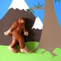 Handpainted Bigfoot Magnet by Pearson Maron