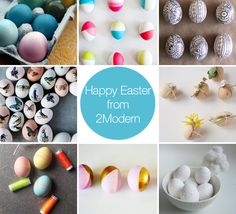 I am definitely doing at least every one of these this weekend. 8 Modern, easy-to-do egg decorating projects!