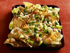 Margarita Shrimp Nachos from #FNMag for the #BigGame
