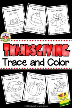 Early learners will love these fun Thanksgiving trace and color printables while developing eye-hand coordination and fine motor skills. These Thanksgiving coloring pages are perfect for morning work or a preschool Thanksgiving center. #thanksgivingcoloringpages #thanksgivingcoloringsheets