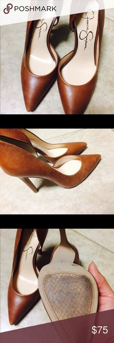"""Jessica Simpson D'Orsay Heels ❤️ Stunning and stylish Jessica Simpson D'Orsay heels. Very comfortable. Burn Umber color. No smells or stains. Used once. Send your offer ! Heel height 3 3/4"""" Shoes Heels"""