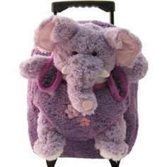 Kreative Kids 8077 Purple Elephant Roller Trolley Backpack $27.99