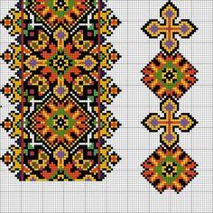 Cross Stitch Borders, Cross Stitch Designs, Cross Stitching, Cross Stitch Patterns, Folk Embroidery, Embroidery Patterns, Palestinian Embroidery, Pixel Pattern, Peyote Patterns