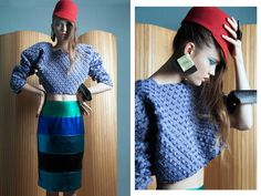 #hufmagazine #fashion Photography / Despina Zitaki  Styling / Nikos Zanas Make Up / Maria Marouga  Hair / Xristina Mi Model / Malika Askarova, Ace Models - Official Top / #MirellaManta, #B38  Skirt / Mi-Ro Designers Hat / #BLANC, AP SHOWROOM  Earrings/Bracelet/Ring / RinaMa CustomMade