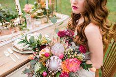 Bride Photography Ideas- Wedding Dress- Bridal Floral Arrangement