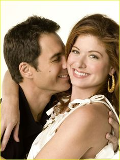 """Debra Messing & Eric McCormack in """"Will & Grace"""" This show not only broke new ground it obliterated it.......Hilarrrrrious"""