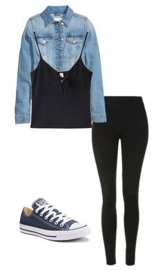"""Untitled #35"" by yasminabuwi on Polyvore featuring Topshop, WithChic and Converse"
