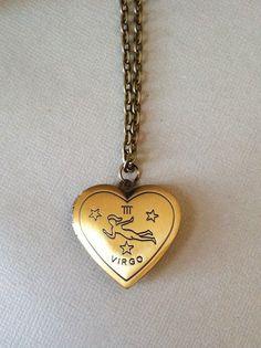 Virgo Zodiac Constellation Locket Necklace  antique by CoastalSoul, $35.00 #boho #bohemian #woodland #etsy #handmade #jewelry