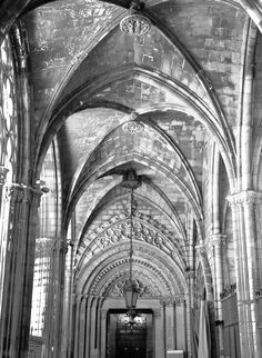Barcelona Cathedral, Gothic Quarter. Barcelona, Spain.