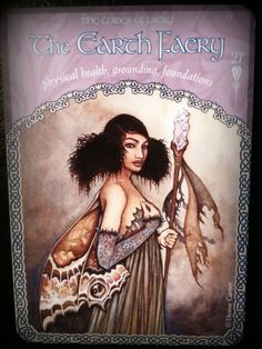 Colette Baron-Reid deck - The Wisdom of Avalon Oracle Cards ~ Earth Faery art by Gary A. Lippincott