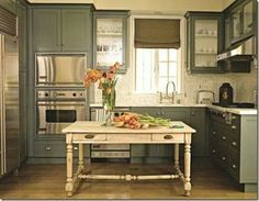 Try a table like this as a kitchen island