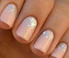 Nude with glitter