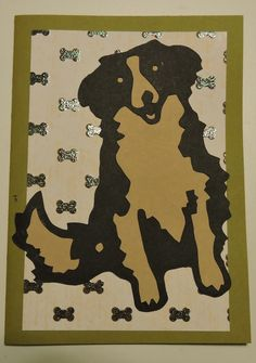 Silhouette Cameo card; pet sympathy
