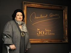 11 Spanish soprano Montserrat Caballe poses during the opening of an exhibition commemorating the 50th anniversary of her debut at the GranTeatre del Liceu in Barcelona, Spain, on January 3, 2012.