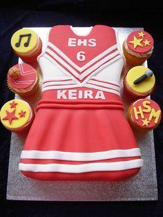 Cheerleader Birthday Cake ideas, I love how they made the uniform