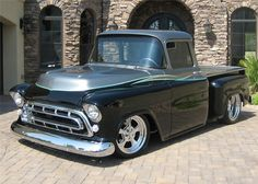 Sold* at Orange County 2012 - Lot #376.1 1957 CHEVROLET STEP-SIDE CUSTOM PICKUP
