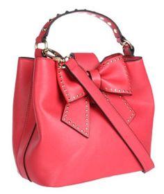 Betsey Johnson Hopeless Romantic Small Bucket Tote Bag
