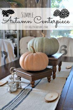 Simple Autumn Centerpiece